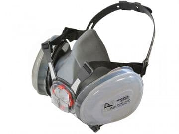 Twin Half Mask Respirator + P2 Dust Filter Cartridges